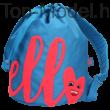 TopModel hátizsák azúrkék HELLO