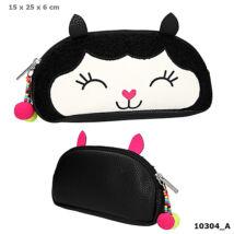 TOP Model Kozmetikai táska fekete alpaca