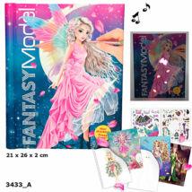 TOP Model Fantasy zenélő, világító ruhatervező könyv
