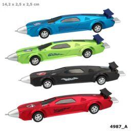 Monster Cars golyóstoll autó alakú, kék