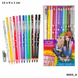 TOPModel színesceruza készlet 12 alapszínű