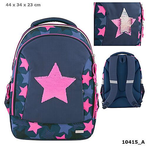 TOPModel iskolatáska sötétkék Star Flitters