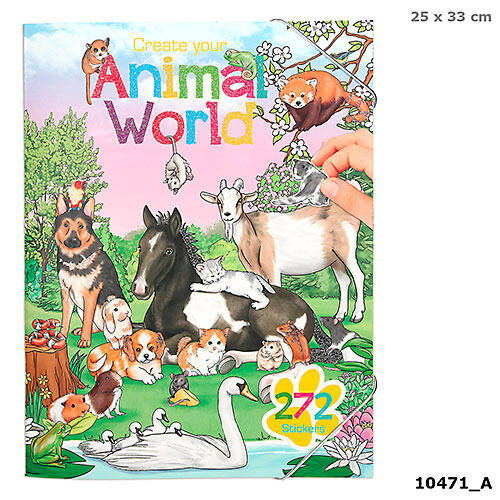 Animal World kreatív matricás tervező