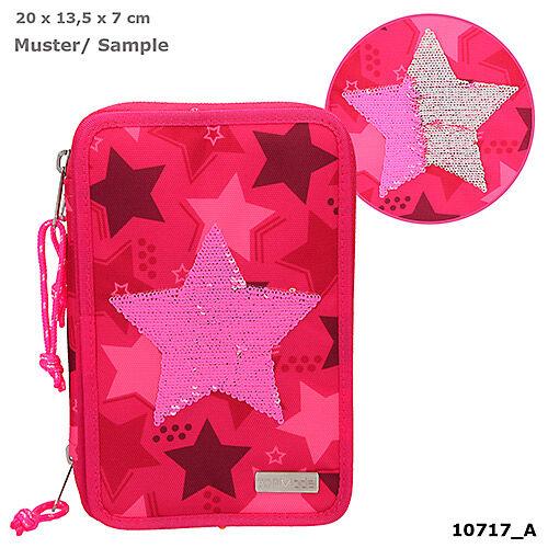 TOPModel 3 emeletes töltött tolltartó pink star