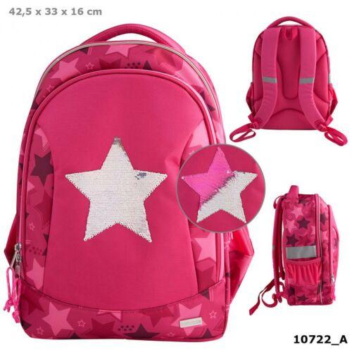 TOPModel iskolatáska pink star