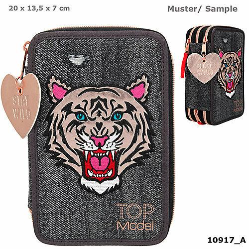 TOPModel 3 emeletes töltött tolltartó Tiger