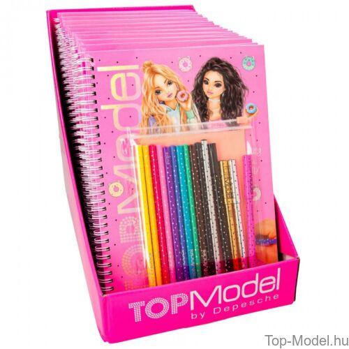 TOPModel kifestőkönyv tollal