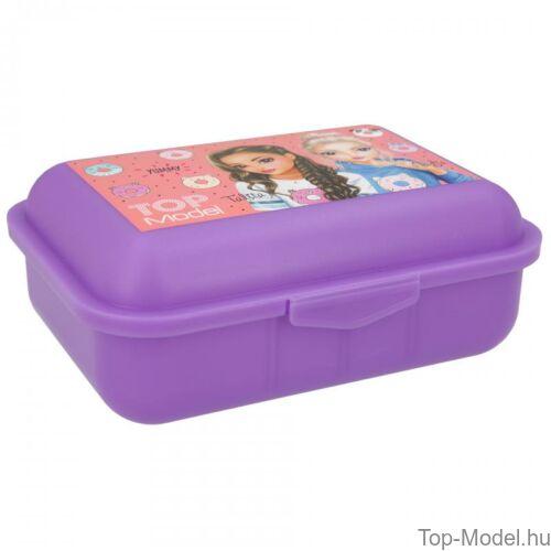 TopModel uzsonnás doboz lila CANDY CAKE