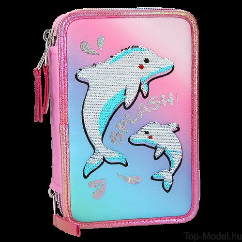 Fantasy Model Háromemeletes Töltött tolltartó delfinekkel