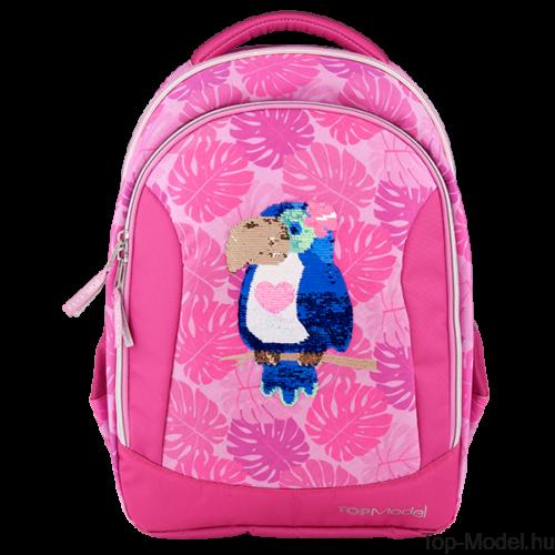 Kép 2/5 - TOPModel iskolatáska TROPICAL pink