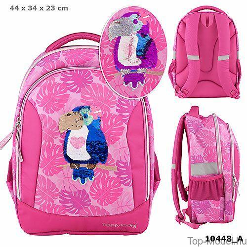 Kép 1/5 - TOPModel iskolatáska TROPICAL pink