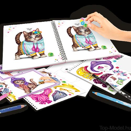 TOPModel cicás ruhaterező könyv