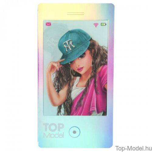 Kép 2/7 - TopModel Mobil alakú notesz 3D-s előlappal, barna sapkás lány