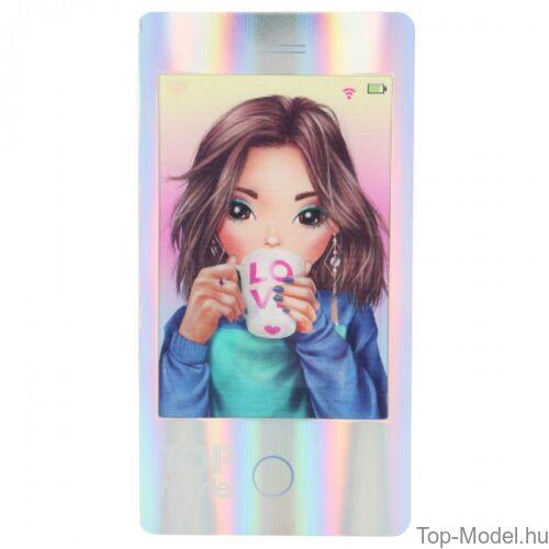 Kép 3/7 - TopModel Mobil alakú notesz 3D-s előlappal, barna sapkás lány
