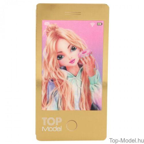 Kép 4/7 - TopModel Mobil alakú notesz 3D-s előlappal, barna sapkás lány