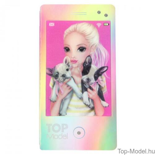 Kép 5/7 - TopModel Mobil alakú notesz 3D-s előlappal, barna sapkás lány