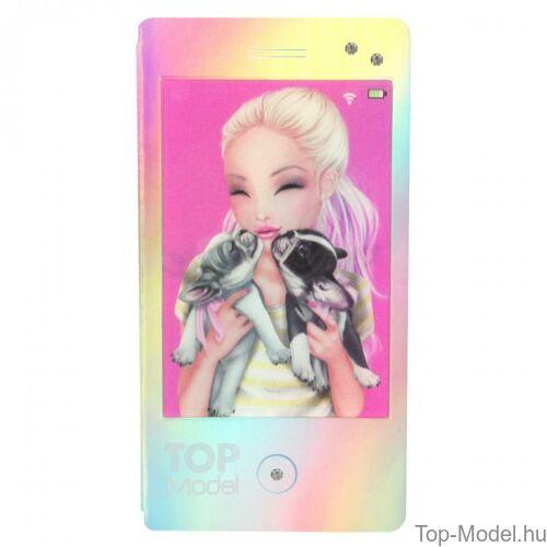 Kép 6/7 - TopModel Mobil alakú notesz 3D-s előlappal, barna sapkás lány