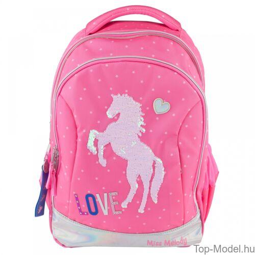 Kép 2/4 - Miss Melody iskolai hátizsák PINK