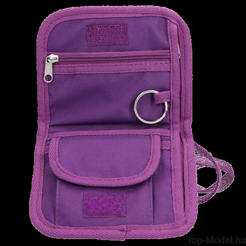 Kép 3/3 - TOPModel Nyakba akasztható pénztárca Friends Purple