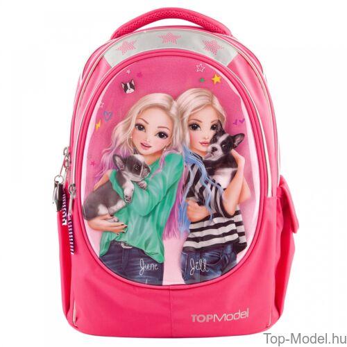 Kép 2/4 - TOPModel ergonomikus iskolatáska Friends Pink