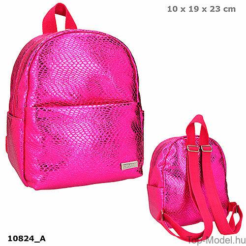 Kép 1/3 - TOPModel mini hátizsák kígyóbőr mintás pink