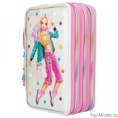 Kép 3/5 - TOPModel 3 emeletes töltött tolltartó Dance pink