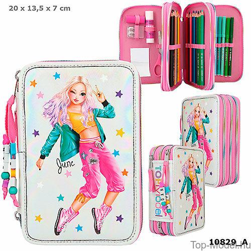 Kép 1/5 - TOPModel 3 emeletes töltött tolltartó Dance pink