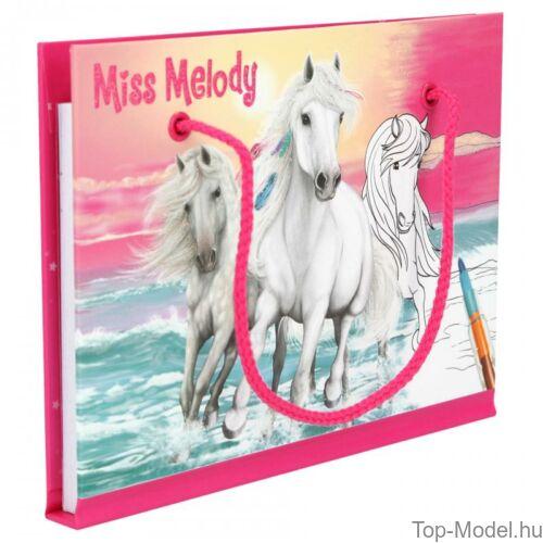 Kép 3/4 - Miss Melody kifestőkönyv ceruzával