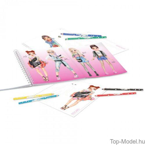 Kép 3/6 - TOPModel kreatív ruhatervező könyv