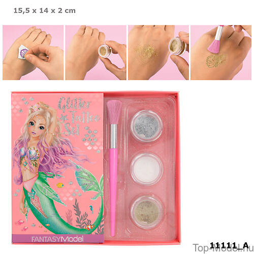 Kép 1/13 - Fantasy Model csillámtetováló készlet mermaid