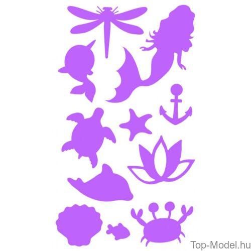 Kép 10/13 - Fantasy Model csillámtetováló készlet mermaid