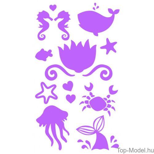 Kép 11/13 - Fantasy Model csillámtetováló készlet mermaid