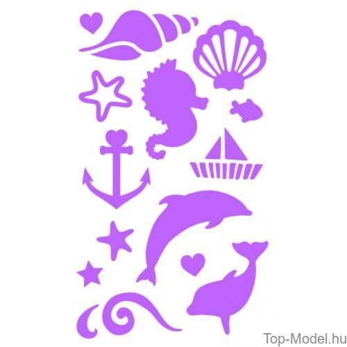 Kép 8/13 - Fantasy Model csillámtetováló készlet mermaid