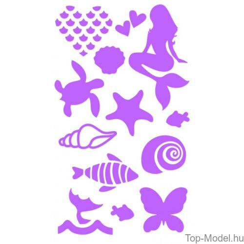 Kép 9/13 - Fantasy Model csillámtetováló készlet mermaid
