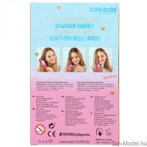Kép 7/7 - TOPModel Hajszínező kréta, kék rózsaszín