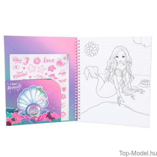 Fantasy modell kifestőkönyv megfordítható flitterrel MERMAID
