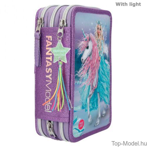 Kép 4/5 - Fantasy Model Háromemeletes Töltött Tolltartó Világítással ICEFRIENDS