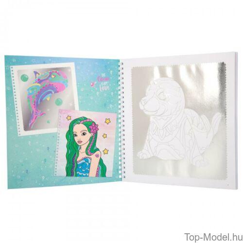 Kép 4/5 - Fantasy Model kifestőkönyv ezüst