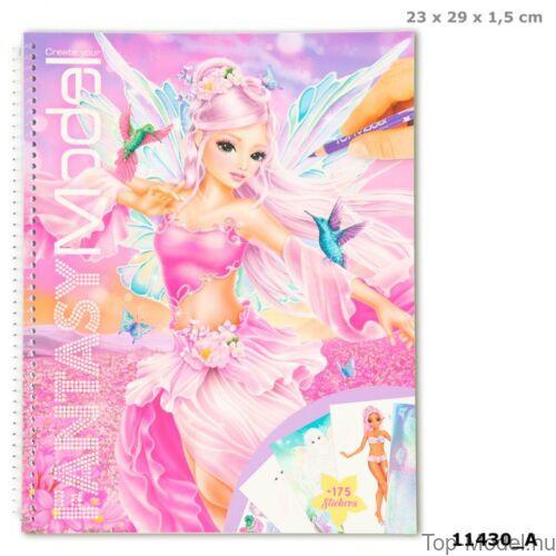 Kép 1/8 - Fantasy model Kreatív Kifestőkönyv