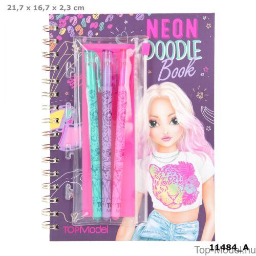 Kép 1/7 - TOPModel Neon Doodle Könyv Zseléstollszettel