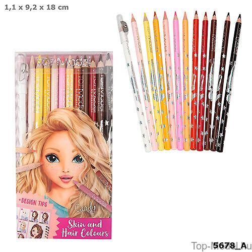 Kép 1/4 - TOPModel színesceruza haj, bőr, színekhez