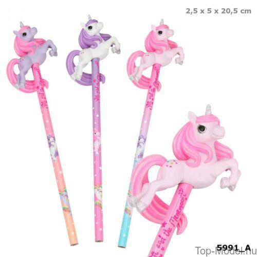 Kép 1/3 - Ylvi & Minimoomis ceruza unikornissal, lila és rózsaszín