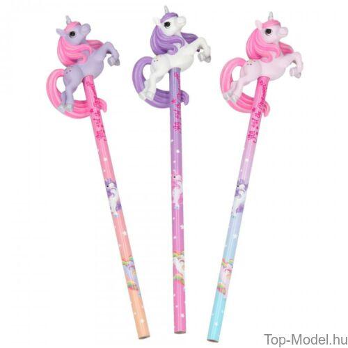Kép 2/3 - Ylvi & Minimoomis ceruza unikornissal, lila és rózsaszín