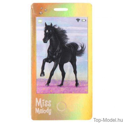 Kép 2/5 - Miss Melody Mobilnotesz 3D-s előlappal, feketeló