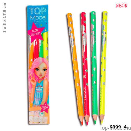 Kép 1/3 - TOPModel Neon színű ceruzakészlet