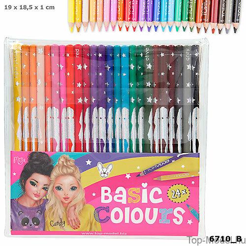 Kép 1/3 - TopModel színesceruza készlet 24 darabos