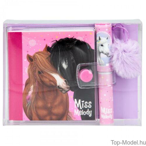 Kép 3/7 - Miss Melody mini notesz golyóstollal, Rózsaszín