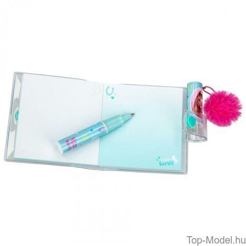 Kép 6/7 - Miss Melody mini notesz golyóstollal, Rózsaszín