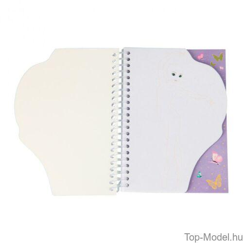 Kép 3/4 - TOPModel Perforált Spirálfüzet A/6, Rózsaszín Sellő