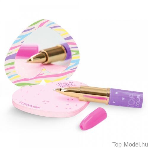 TOPModel notesz rúzs alakú tollal